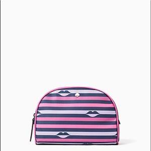 Kate Spade Jae Lip Print Medium Dome Cosmetic Bag